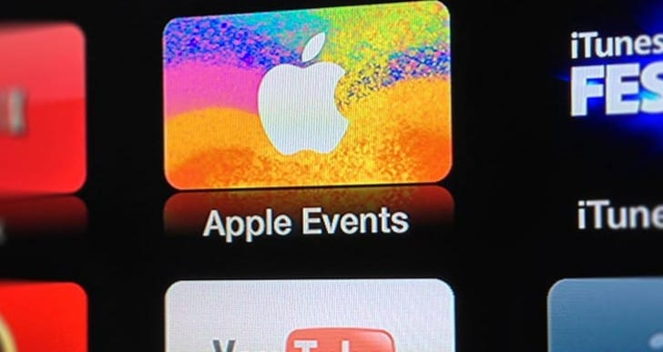 Apple TV events icon not showing until WWDC date