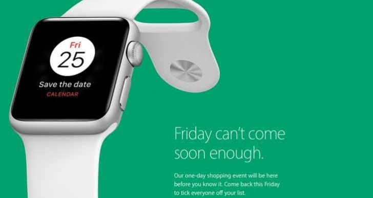 Apple UK Store promotes Friday sales with Save the date