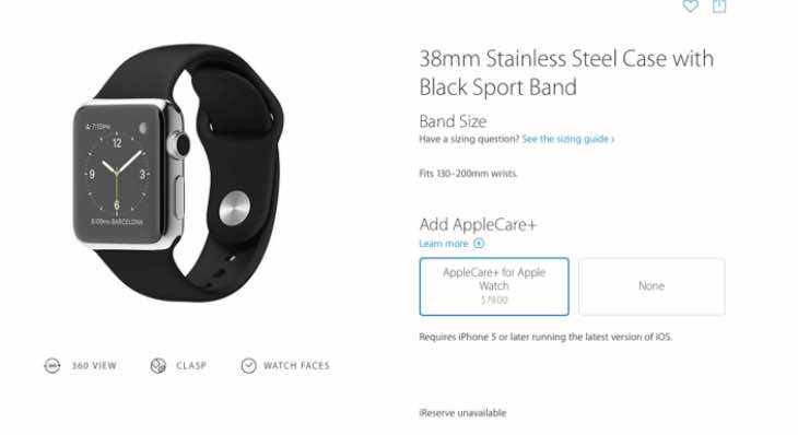 Apple Watch Stainless Steel AppleCare price