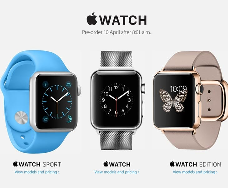 Apple Watch exact preorder time in PDT, EST and BST