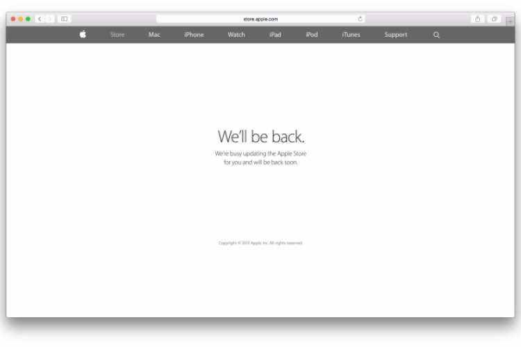 Apple Store down in preparation for Watch pre-orders