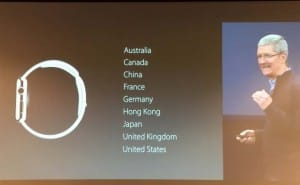 Apple Watch release date for 9 countries