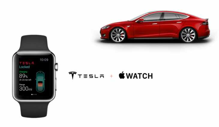Apple Watch with surprise Tesla car control