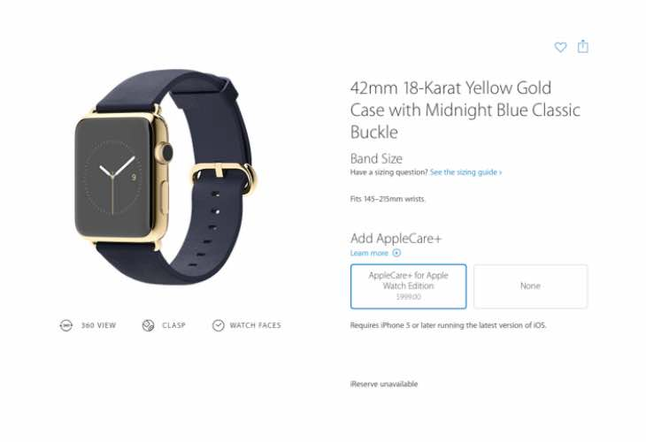 Apple WatchEdition AppleCare price