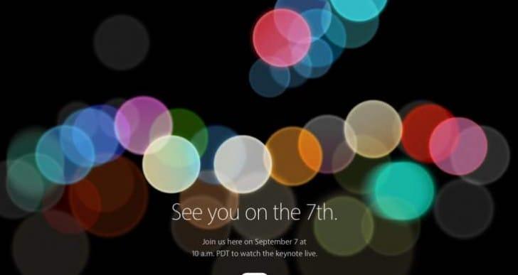 Apple event September 7, 2016 worldwide start times