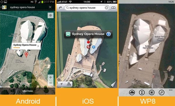 Apple iOS 6 Maps vs. Google, revisited with WP8