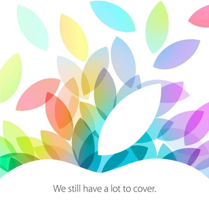 Apple iPad event, live blog stream for Oct 2013