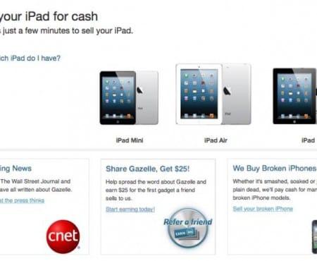 Apple iPad trade-in at Walmart vs Gazelle