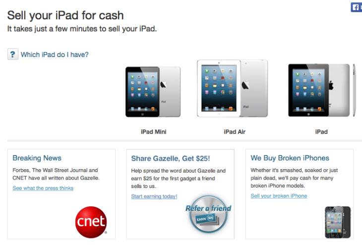 Apple iPad trade-in at Walmart vs Gazelle