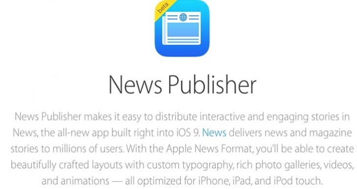 Apple's iCloud News Publisher sign up