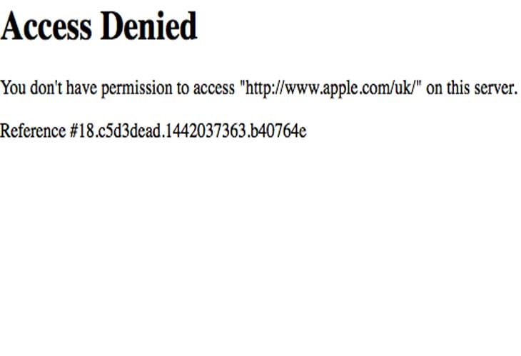 Apple-store-down-Access-Denied