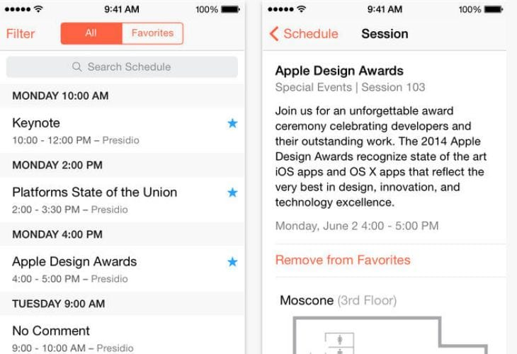 Apple updates WWDC app for iPhone and iPad