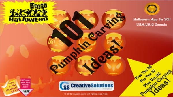 Apps for Halloween pumpkin carving patterns and stencils