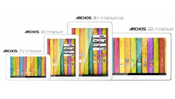 Archos Titanium tablet quartet, detailed visual impressions