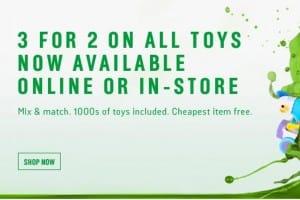 Argos 3 for 2 Toys in December, sale in demand