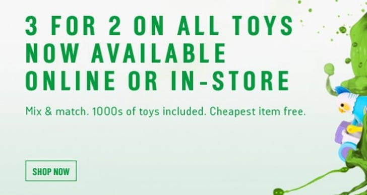 Argos 3 for 2 Toys in December, sale in demand