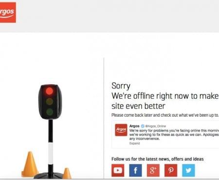 Argos confirm online problems, still not working