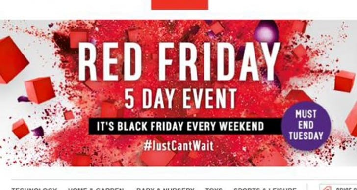 Argos start Red Friday 5-day sales event