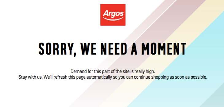 argos-website-down-with-sorry-we-need-a-moment-message