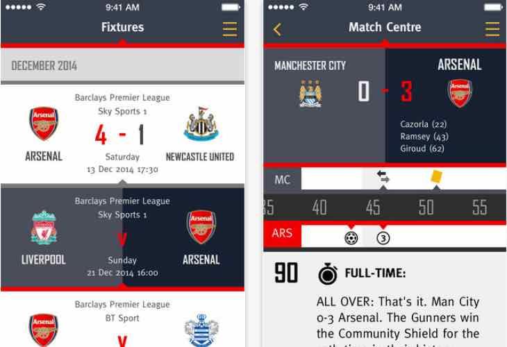 Arsenal 2015:16 fixtures