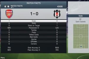 Arsenal FC vs. Besiktas score spot on in FIFA 14