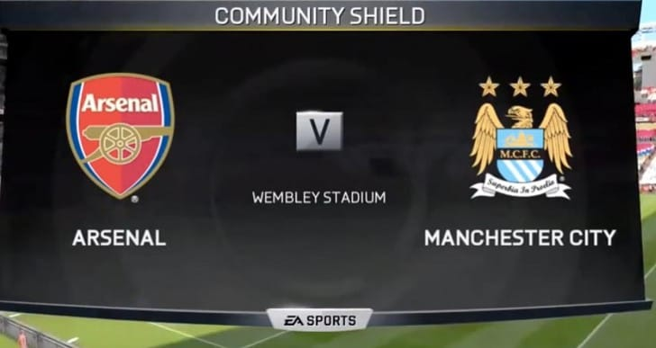 Arsenal vs Man City in FIFA 15 beta