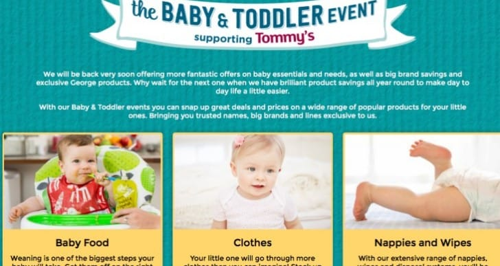 Asda launch Baby and Toddler event early for 2017