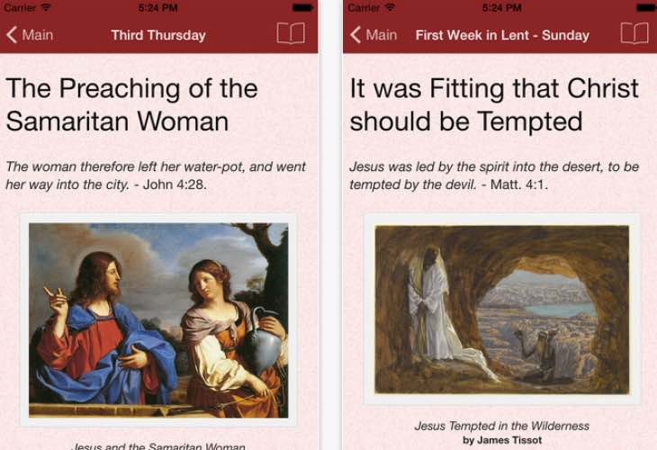 Ash Wednesday 2015 readings via Lent app