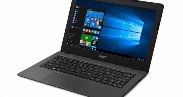 Aspire One Cloudbook Windows 10 laptops under $200