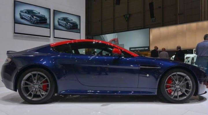 Aston Martin V8 Vantage N430 in blue & orange at GMS 2014