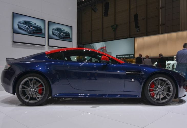 Aston Martin V8 Vantage N430 in blue & orange at GMS 2014