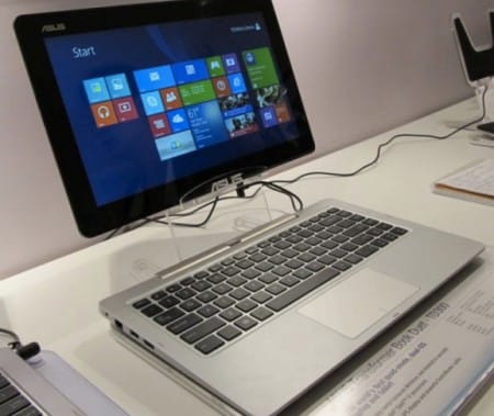 Transforms from tablet to laptop with ease..