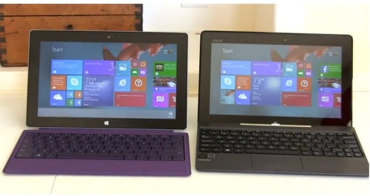 Asus Transformer T100 tablet vs. Surface 2 review