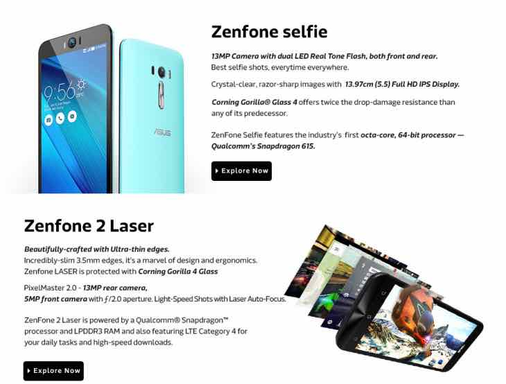 Asus Zenfone Selfie and Laser
