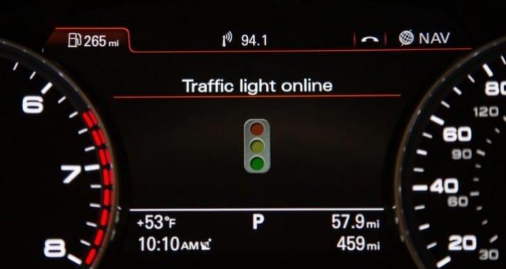 Audi Online Traffic Information fuel saving figures