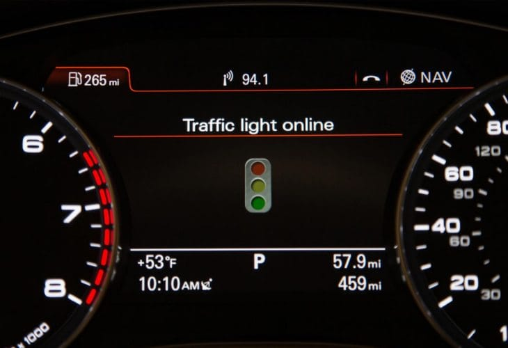 Audi Online Traffic Information fuel saving figures
