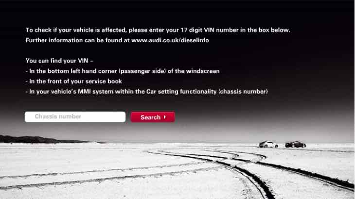 Audi recall checker