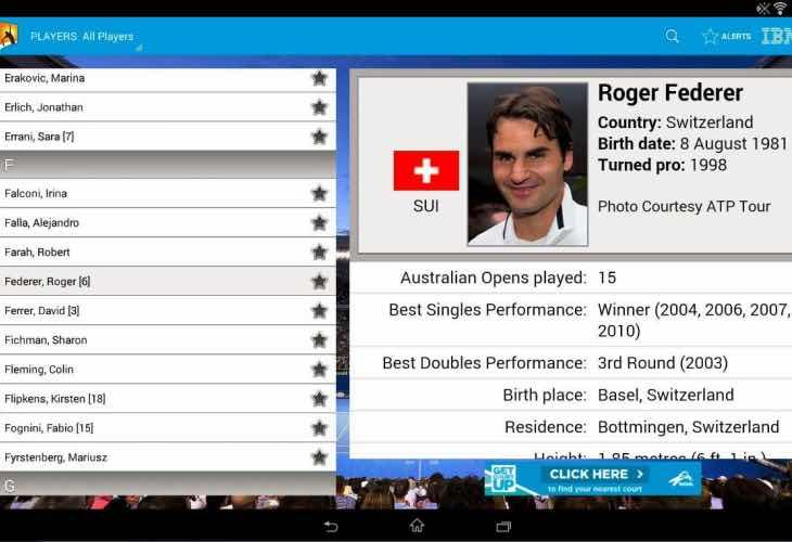 Australian Open 2015 schedule and leaderboard updates