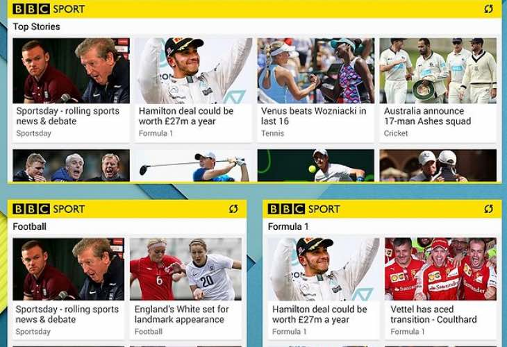 BBC Sport app update