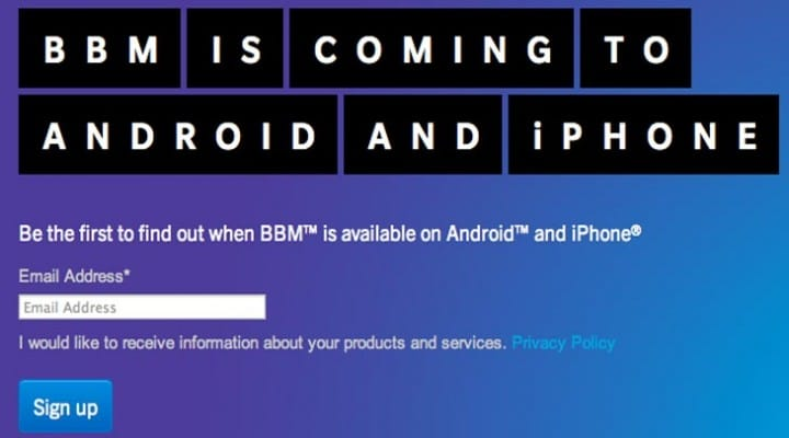 BBM Android release date soon say Samsung