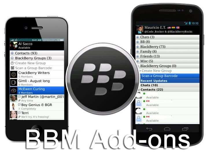 BBM add-ons for Android and iPhone