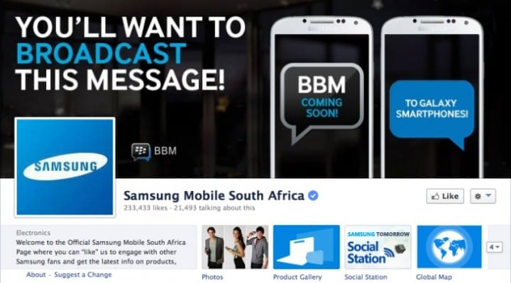 BBM on iPhone not promoted like Android