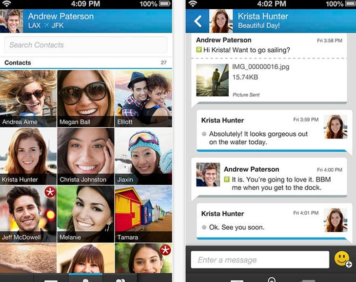 BBM on iPhone, app removed from store