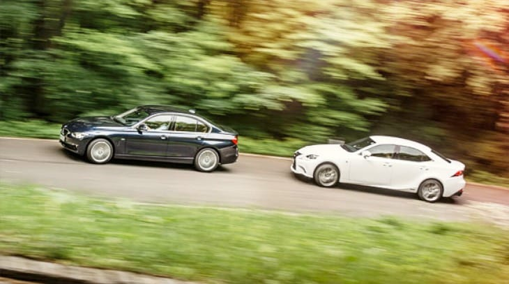 BMW 320d vs. Lexus IS300h as best sports saloon