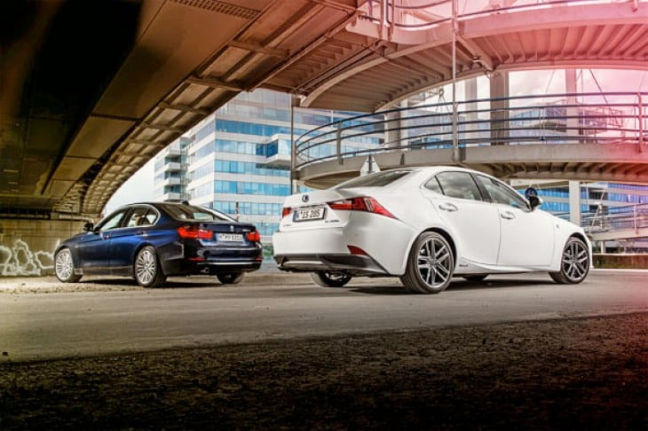 BMW 320d and Lexus IS300h compete for best sports saloon