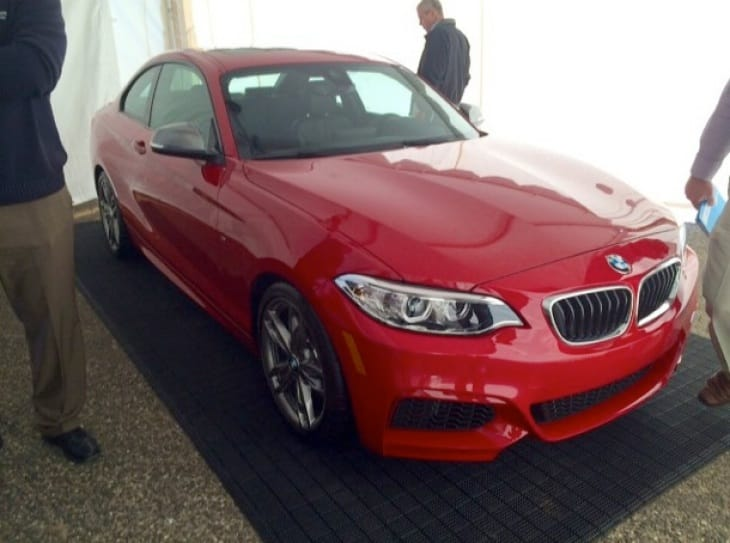 The BMW M235i seen in all its glory during a public appearance