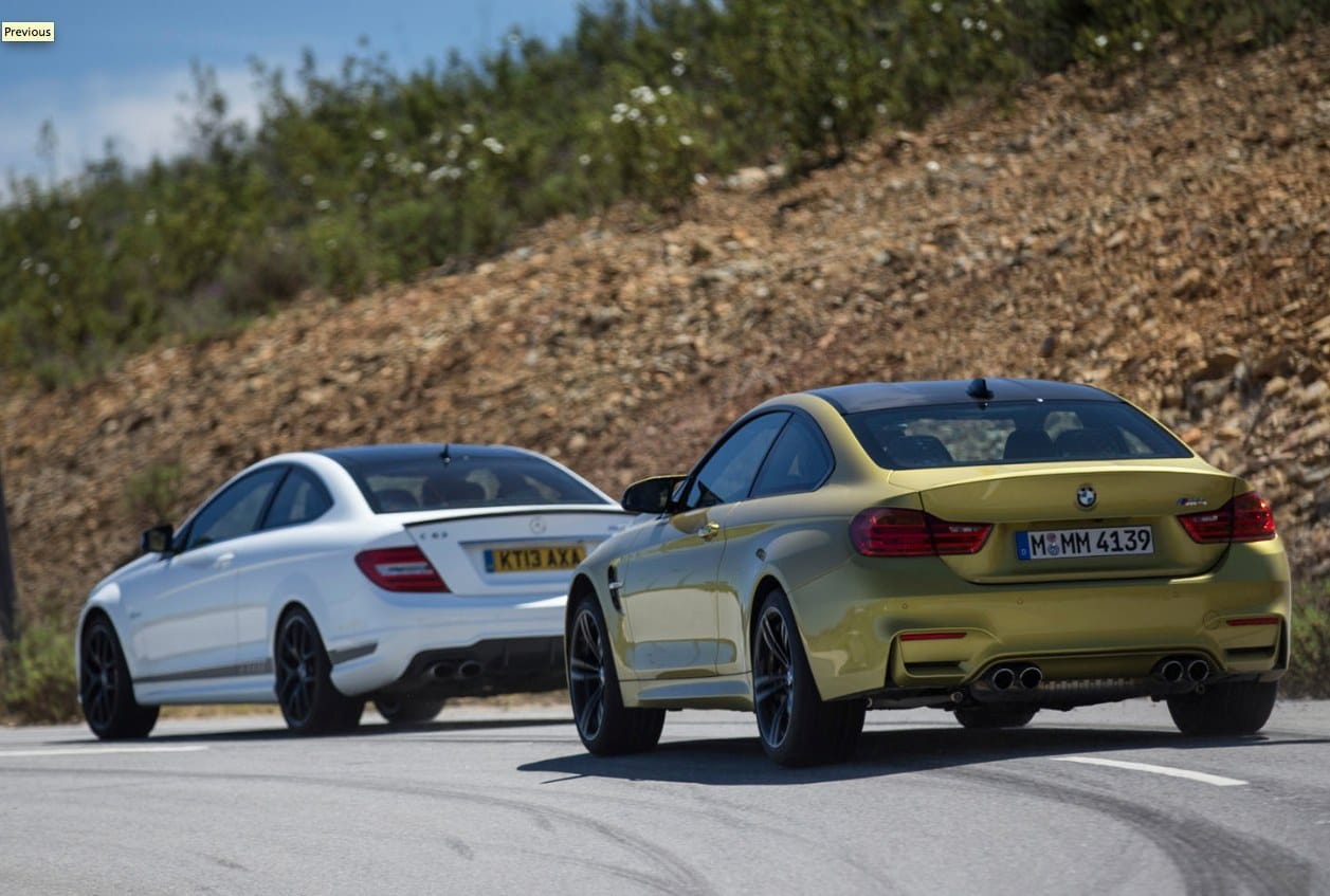 BMW M4 vs. Mercedes C63 AMG, not next-gen
