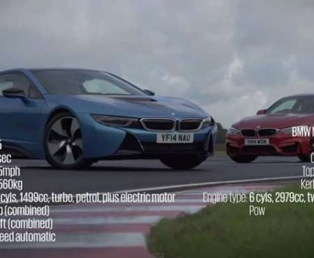 BMW i8 Vs M4 for track experience