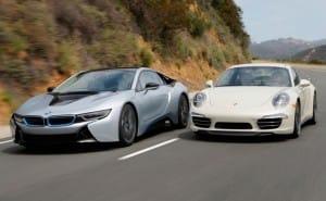 BMW i8 vs. Porsche 911 – Intriguing sports car challenge