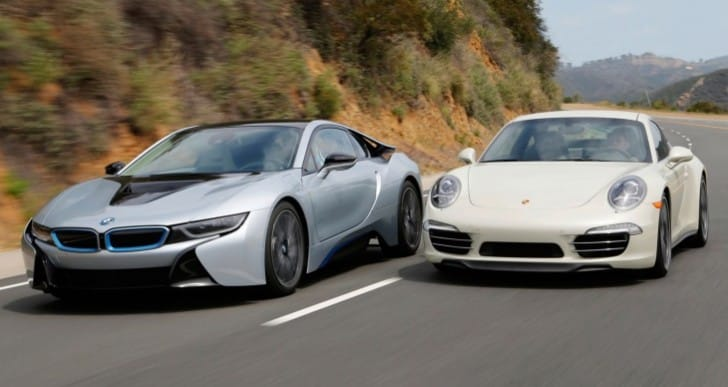 BMW i8 vs. Porsche 911 – Intriguing sports car challenge